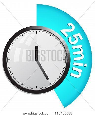 Timer 25 minutes vector illustration