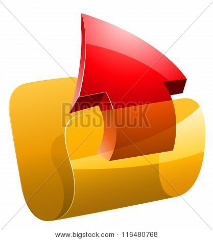 Upload folder vector illustration