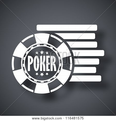 Vector Poker Chips Icon