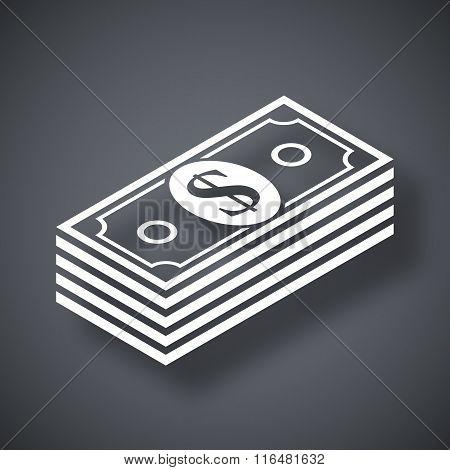 Vector Bundle Of Dollars Icon