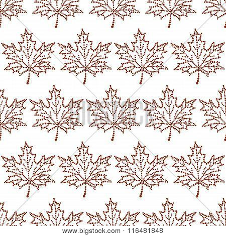 Seamless Pattern Maple Leaf