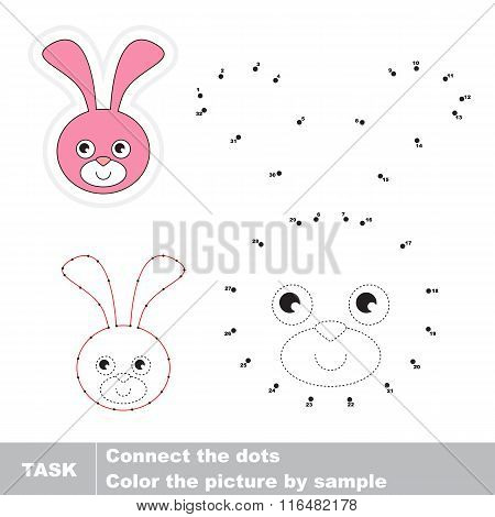 Bunny Head . Vector numbers game.