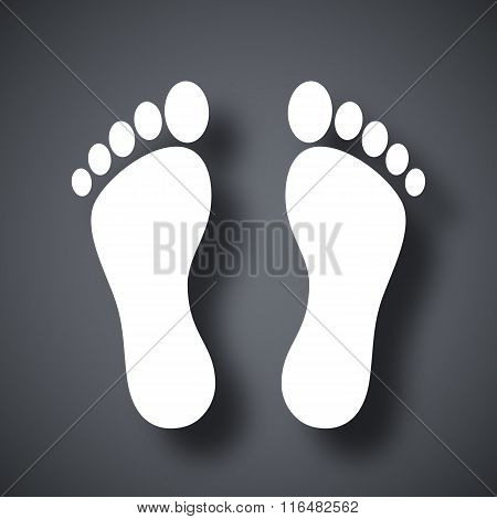 Vector Footprints Icon