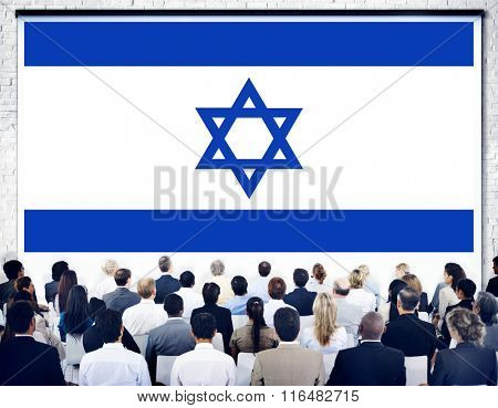 Israel Country Flag Liberty National Concept