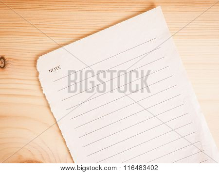 Blank Note Book Page Vintage