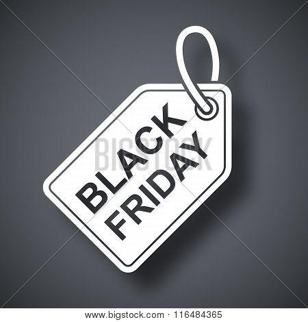 Vector Black Friday Sales Tag Icon