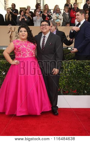 LOS ANGELES - JAN 30:  Raini Rodriguez, Rico Rodriguez at the 22nd Screen Actors Guild Awards at the Shrine Auditorium on January 30, 2016 in Los Angeles, CA