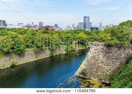 Fortification of Osaka Castle in Osaka