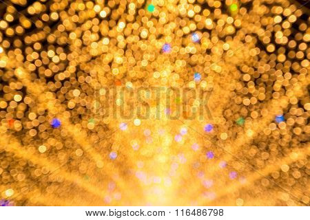 abstract blurred background: defocus of yellow light