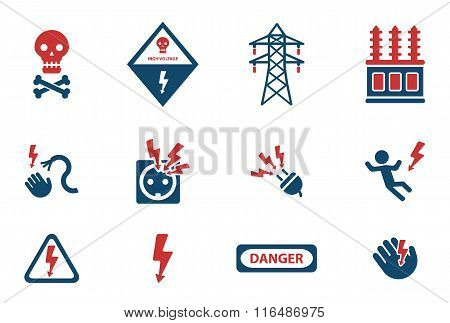 High voltage simply icons