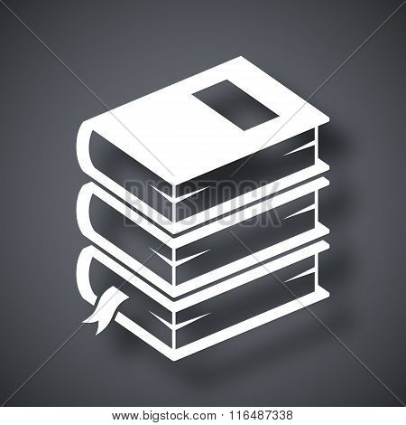 Vector Stack Of Book Icon