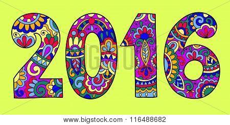 new year inscription 2016 hand written,