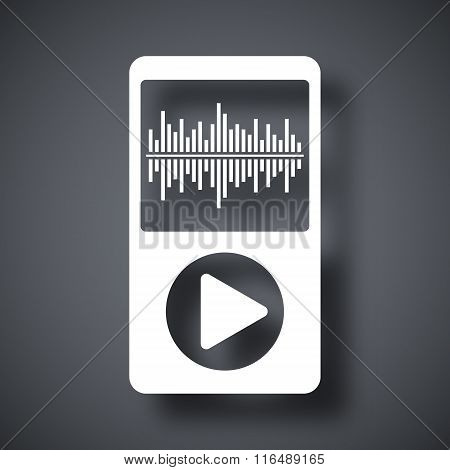 Vector Music Player Icon