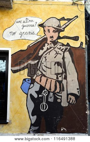 Murales Another War No Thanks