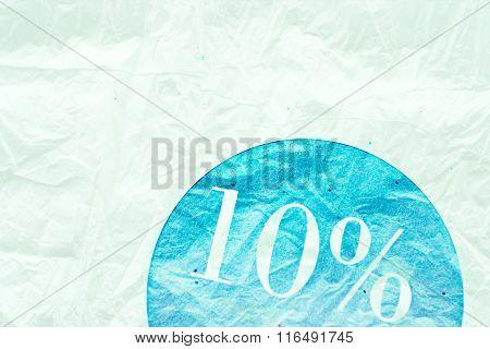 Sale Sign - 10 Percent On Vintage Ancient Background