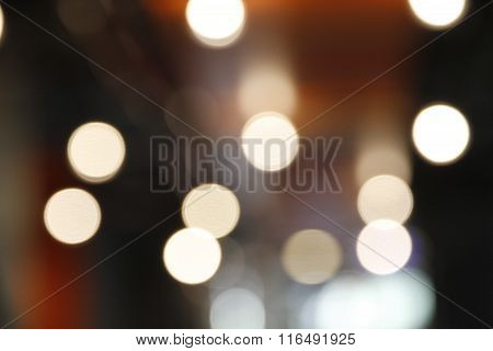 Fractured pin points of bright light forming bokeh.