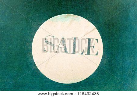 Sale Sign - Print On Vintage Ancient Background