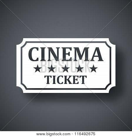 Vector Cinema Ticket Icon