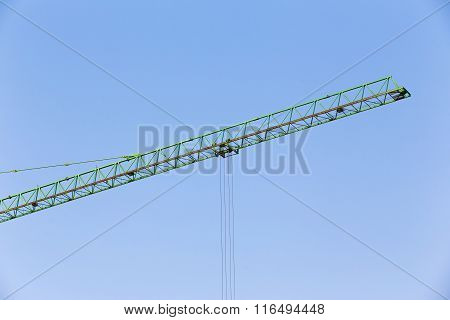 Slider Of Crane On For Construction