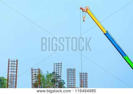 Construction Site With Cranes