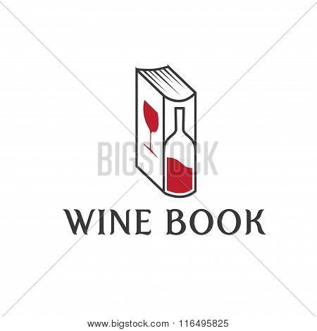 Wine Book Vector Design Template