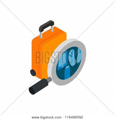 Scanning luggage isometric 3d icon