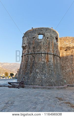 Gradenigo Tower Of Old Town Of Budva, Montenegro