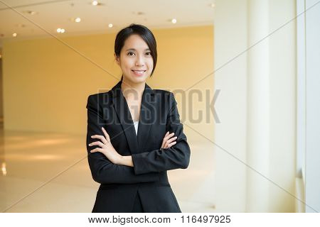 Asian Young Businesswoman working at office