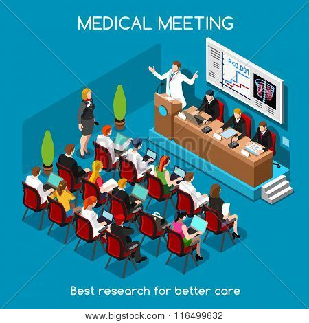 Medical Meeting People Isometric