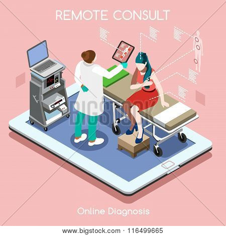 Remote Doctor 02 People Isometric