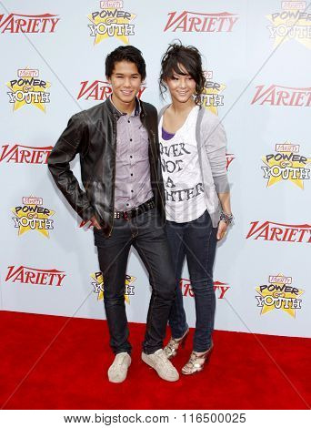 BooBoo Stewart and Fivel Stewart at the Variety's 3rd Annual Power of Youth Event held at the Paramount Pictures Studios in Hollywood, USA on December 5, 2009.