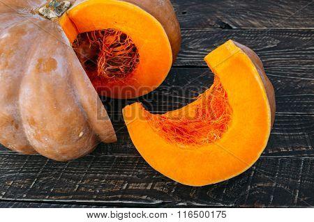 Ripe pumpkin.