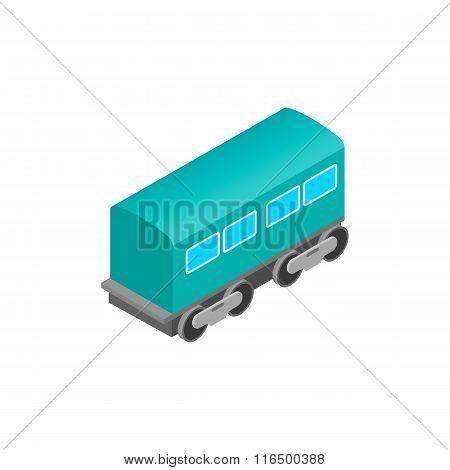 Passenger railway waggon isometric icon