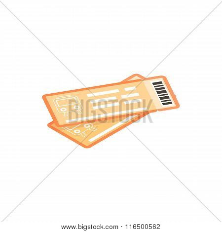 Train tickets isometric 3d icon