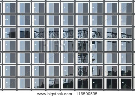 Construction Crane Reflection