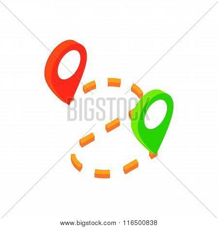 GPS navigator isometric 3d icon