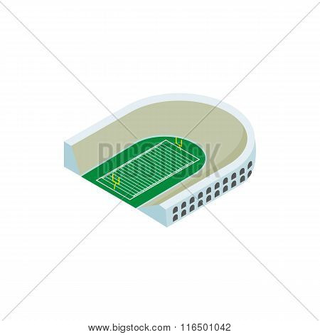 Rugby stadium isometric 3d icon