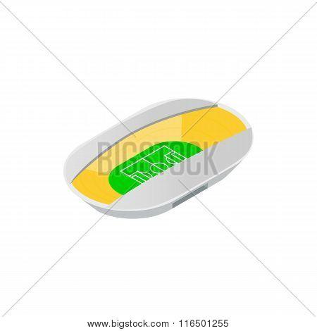 Semiclosed footbal stadium isometric icon