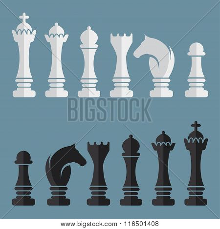 Flat Vector Set Of Chess Icons