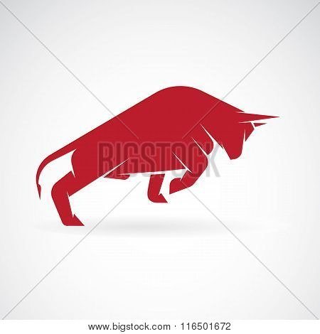 Vector Image Of An Bull Design On A White Background
