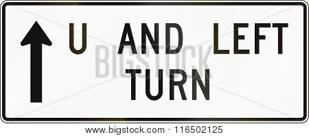 United States Mutcd Road Sign - Allowed Turns