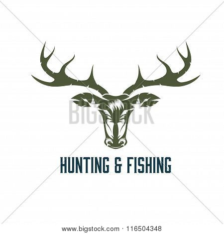 Hunting And Fishing Vintage Label