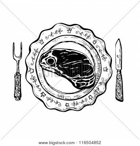 Dinner With Steak