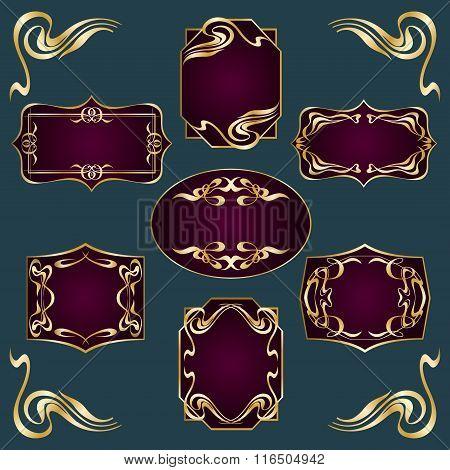 Art Deco Style Labels