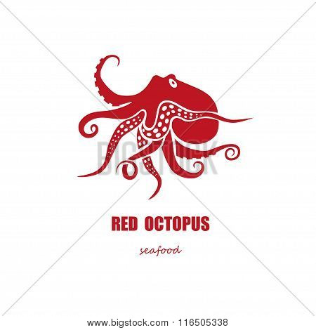 Red Octopus Seafood Company Logo