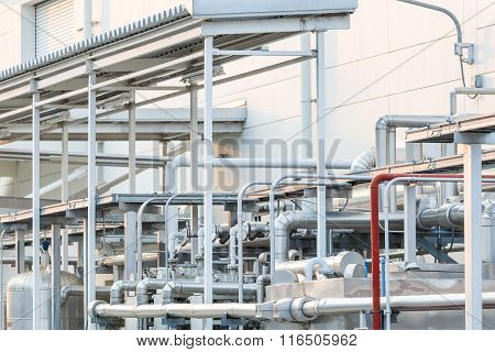 Pipe For Air Control In Factory