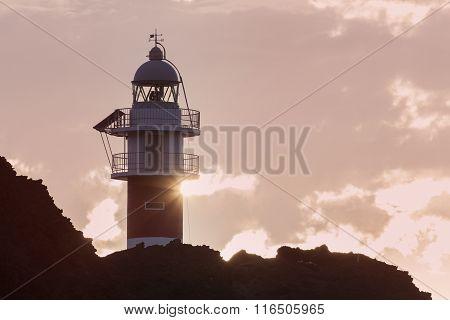 Punta de Teno Lighthouse on Tenerife. Canary Islands Spain.