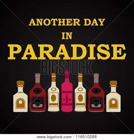 Another day in Paradise - funny inscription template