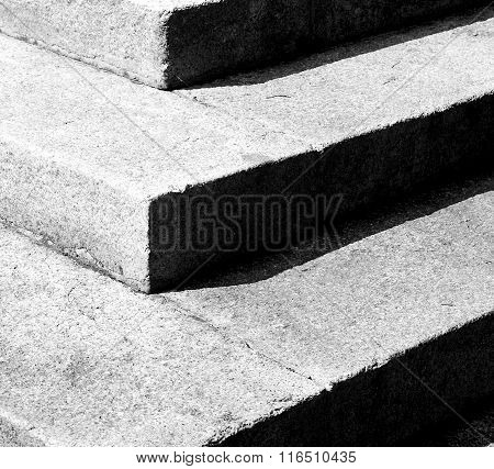 Ancient Flight of  Steps In Europe Italy Old Construction And Background Symbol