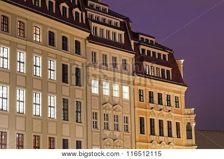 Neumarkt Architecture In Dresden
